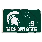 3 Ft. X 5 Ft. Flag W/Grommets with Michigan State Spartans Logo