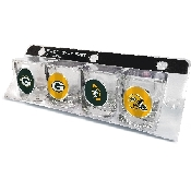 4 Piece Shot Glass Set with Green Bay Packers