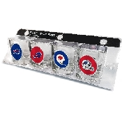 4 Piece Shot Glass Set with Buffalo Bills