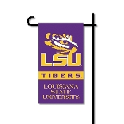 Mini Garden Flag w/ Pole with LSU Tigers Collegiate