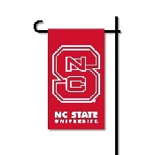 Mini Garden Flag w/ Pole with N. Carolina State Wolfpack Collegiate