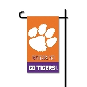 Mini Garden Flag w/ Pole with Clemson Tigers Collegiate