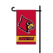 Mini Garden Flag w/ Pole with Louisville Cardinals Collegiate