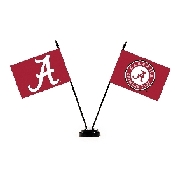 Collegiate Alabama Crimson Tide 2 Flag Desk Set