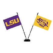 Collegiate LSU Tigers 2 Flag Desk Set