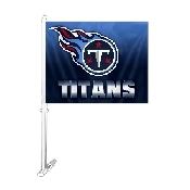 Car Flag with Tennessee Titans Logo