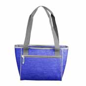 Plain Royal Crosshatch 16 Can Cooler Tote