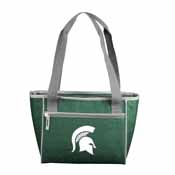 MI State Crosshatch 16 Can Cooler Tote