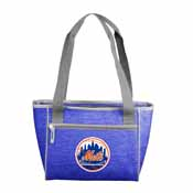 New York Mets Crosshatch 16 Can Cooler Tote