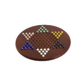 "15"" Jumbo Chinese Checkers W/ Marble Pieces"