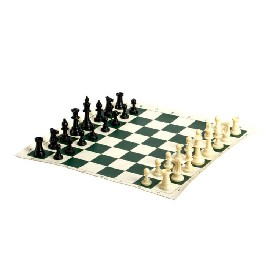 "Tourament Chess In Travel Bag - 20""x 20"", King 3 3/4"""