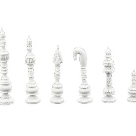 "Artistic Indian Chess Pieces (King: 4"")"
