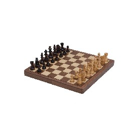 "11"" Walnut Magnetic Folding Chess Set"
