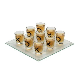 "10"" Drinking Tic Tac Toe Game - New"