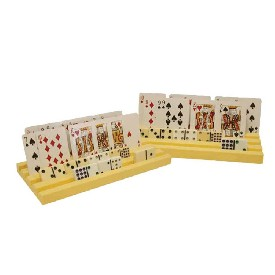 2Pc Plastic Domino & Playing Card Holder