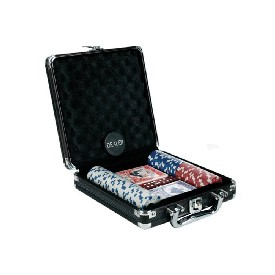 100Pc 11.5G Dice Chips Set In Black Aluminum Case