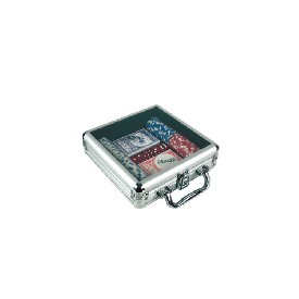 100Pc. 11.5G Poker Set In Acyrlic Lid Aluminum Case