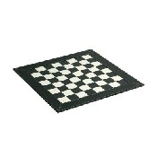 18inch Leatherette Chess Board  Black/White