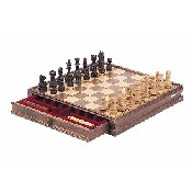 15inch Classic Wooden Chess & Checker Set