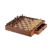 "19"" Camphor Chess/Checker Set"