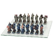 Civil War Chessmen - Poly Resin (King: 3