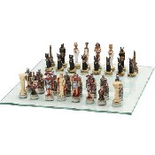 Roman/Egyptian Chessmen - Poly Resin (King: 3 3/4