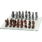 King Arthur Chessmen - Poy Resin (King: 3 3/4