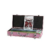 Pink Mah Jong Set W/ Pusher/Racks