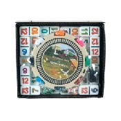 Dbl 12 Prof Number Mexican Train Dom/Chicken Dom W/ Whistling Hub