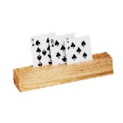 2Pc Wooden Card Holder
