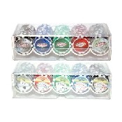 100Pc 11.5G Royal Flush Chips In Plastic Casino Chip Holder W/ Lid