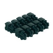 10Pc/Bag Black Train Markers - 1 3/8