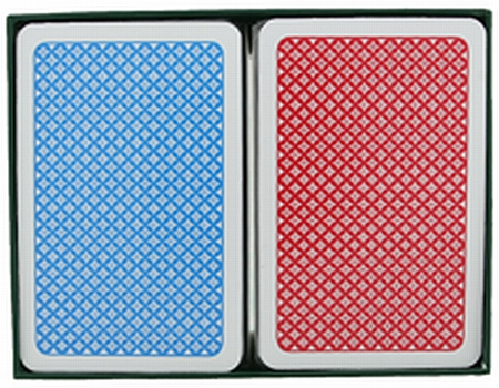 A Plus Bridge Size Jumbo Index Playing Cards Red Blue