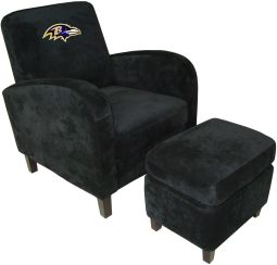 NFL Baltimore Ravens Sofa Den Chair With Ottoman Recliners Home Theater  Sofa Leather Sofas Video Chair