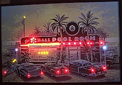 "NEON/LED PICTURE 8 BALL POOL ROOM  HANGWALL 36"" x 24"" x 1"""