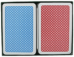 Red Blue large index jumbo index plastic playing cards bridge size plastic cards A Plus cards