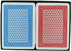 Red Blue plastic playing cards poker size plastic cards A Plus cards