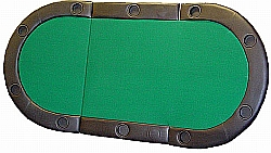 10 Players Texas Hold'em Casino Poker Folding Table Top 82 Inch Padded Armrest