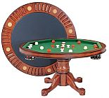 54RndW Bumper Pool poker table dining top round poker table
