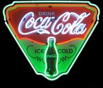 COCA-COLA ICE COLD SHIELD NEON SIGN 24 x 29