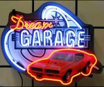 DREAM GARAGE GTO NEON SIGN 29 x 14 METAL GRID FINISH