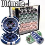Ultimate 14 G - Acrylic Case 1000 Ct Poker Chips Sets Poker
