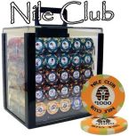 Standard Breakout Nile Club Chip Set - Acrylic Case 1000 Ct Poker Chips Sets Poker