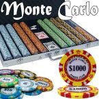 Monte Carlo Chip Set Aluminum Case 1000 Ct Poker Chips Sets Poker