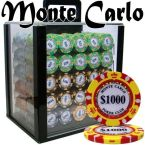Monte Carlo Chip Set Acrylic Case 1000 Ct Poker Chips Sets Poker