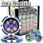 Ace Casino 14 Gram - Acrylic Case 1000 Ct Poker Chips Sets Poker