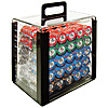 1000 10g Desert Sands Casino Poker Chips in Acrylic Carrier