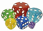 Acrylic Novelty Transparent Rounded Corners Dice 50 mm (2 inches)