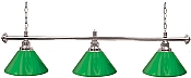Premium 60 Inch 3 Shade Billiard lamp, s Green and Silver gameroom lamps