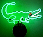 NEON ALLIGATOR HANGWALL SCULPTURE 15